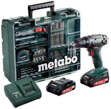 METABO 602207880 Akušroubovák 18V 2x2,0Ah BS 18+ příslušenství(7905045)