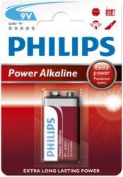 Baterie POWERLIFE 9V plochá 6LR61 blistr PHILIPS 100032.01