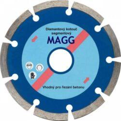 MAGG DKS125 Kotouč diamantový 125x2/7x22,2-Kotouč diamantový Magg DKS segmentový 125 mm