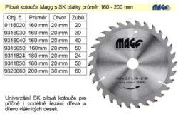 MAGG 9316030 Pilový kotouč HOBBY SK 160x2,6x20 30z