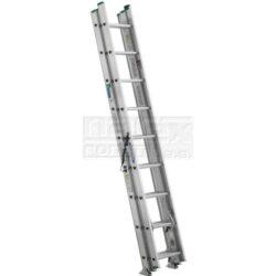 ELKOP 109467 Žebřík výsuvný VHR H 2x14 příček 6370mm-Dvoudílný hliníkový víceúčelový HOBBY žebřík