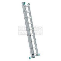 ELKOP 109452 Žebřík výsuvný VHR H 3x9 příček 5330mm-Trojdílný hliníkový víceúčelový HOBBY žebřík