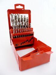MAKITA P-60523 Sada vrtáků do kovu 25dílná-Sada 25 ks vybrušovaných vrtáků HSS-G v kovovém boxu