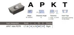Destička APKT 1604 PDTR LT30 LAMINA