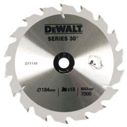 DEWALT DT1149-QZ Pilový kotouč 184x16 18z-Pilový kotouč 184 x 16 mm, 18 zubů