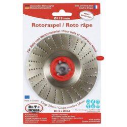 MAGG ROTO11520 Rotační rašple střední 115x22,2x2,0mm pro úhlové brusky