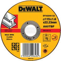 DEWALT DT42200 Kotouč řezný 115x1,6mm-Řezný kotouč na kov, rovný 115 mm