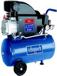 SCHEPPACH HC 25 Kompresor olejový 24L 1500W 161L/min 8bar-Olejový kompresor