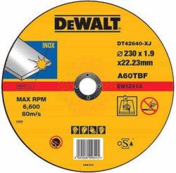 DEWALT DT42640 Kotouč řezný 230x2mm-Řezný kotouč na nerez, plochý 230 x 2 mm