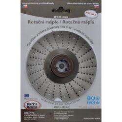 MAGG ROTO12525 Rotační rašple hrubá 125x22,2x2,5mm pro úhlové brusky