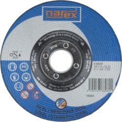 NAREX 65403774 Kotouč brusný 125/6mm na kov vypouklý A 30Q BF