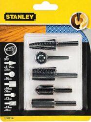 Sada rotačních rašplí se záhlubníkem 5dílná STANLEY STA66190