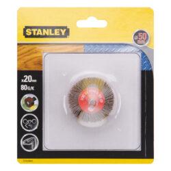 Lamelové brusné tělísko do vrtačky D50x20mm S6mm P80 STANLEY STA34041