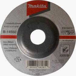 MAKITA B-14560 Kotouč brusný 115x6 na hliník-Kotouč brusný 115x6 na hliník