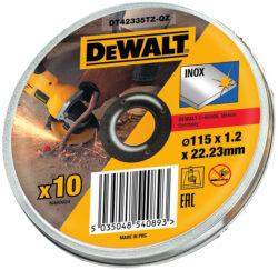 DEWALT DT42335TZ-QZ Kotouč řezný 115x1,2mm v boxu (10ks bal.)  AKCE-Kotouč řezný 115x1,2mm v boxu (10ks bal.)