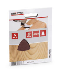 KREATOR KRT280007 Brusivo delta 50x37mm P120 pro multitool (6ks) - Brusivo delta 50x37mm P120 pro multitool (6ks)