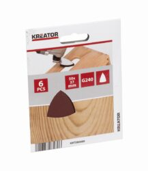 KREATOR KRT280009 Brusivo delta 50x37mm P240 pro multitool (6ks) - Brusivo delta 50x37mm P240 pro multitool (6ks)