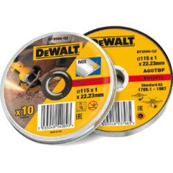 Kotouč řezný 115x1mm v boxu (10ks bal.) DEWALT DT3506 AKCE