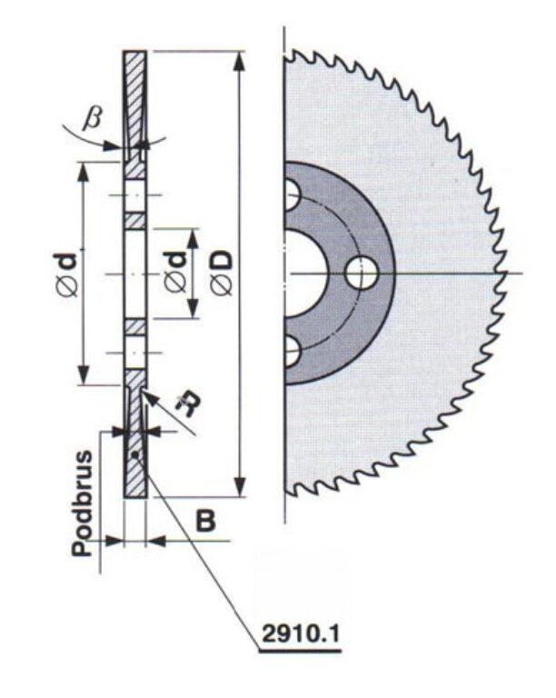 Pilový kotouč HSS 30 jemný 125X3,5X27 A ČSN222910.1