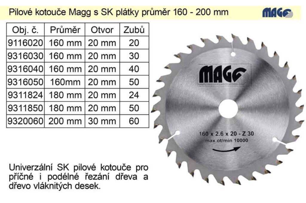 MAGG 9116020 Pilový kotouč HOBBY SK 160x2,2x20 20z