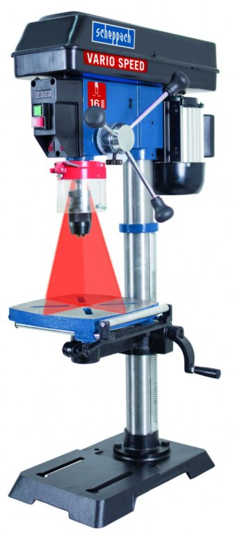 SCHEPPACH DP 18 VARIO Stolní vrtačka 550W s laserem
