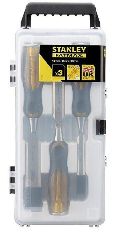 STANLEY 2-16-268 Sada dlát 3dílná 12,18,25mm kovový úderník FatMax