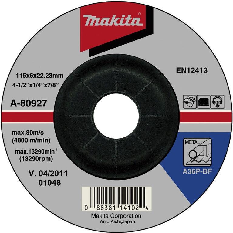 MAKITA A-80933 Kotouč brusný 125x6 na ocel