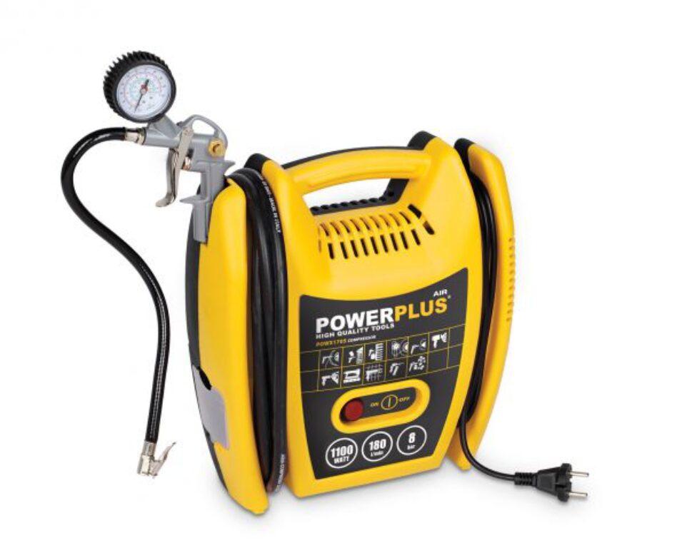 POWER PLUS POWX1705 Kompresor bezolejový 1100W 8bar