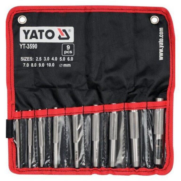 YATO YT-3590 Sada výsečníků 9dílná 2,5-10mm