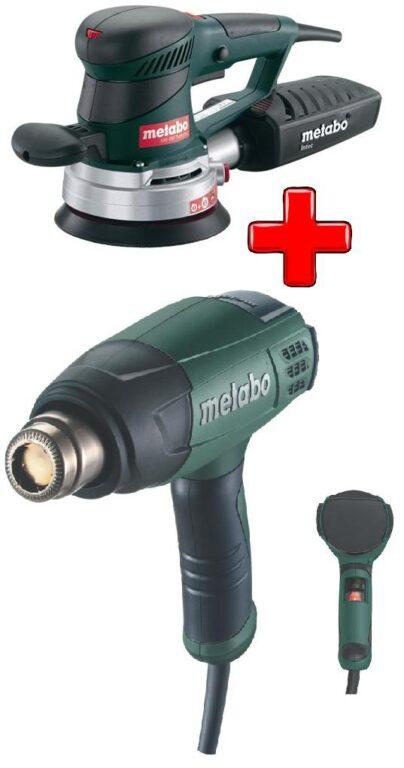 METABO 600129165 Set nářadí excentrická bruska SXE 450 + opalovačka H 16-500 od ninex.cz