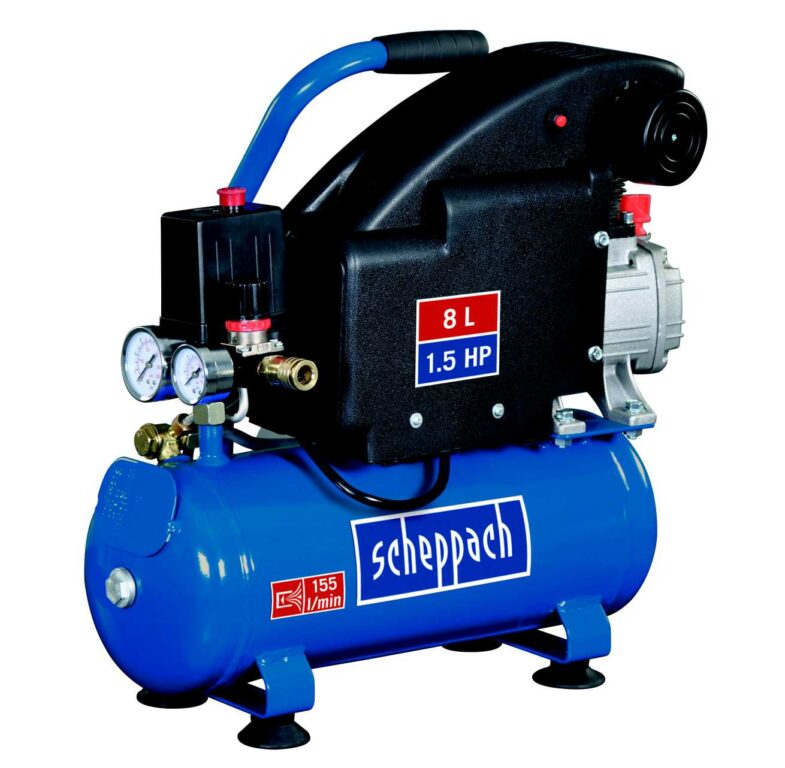 SCHEPPACH HC 08 Kompresor olejový 8L 1100W 1,5PS 155L/min 8bar