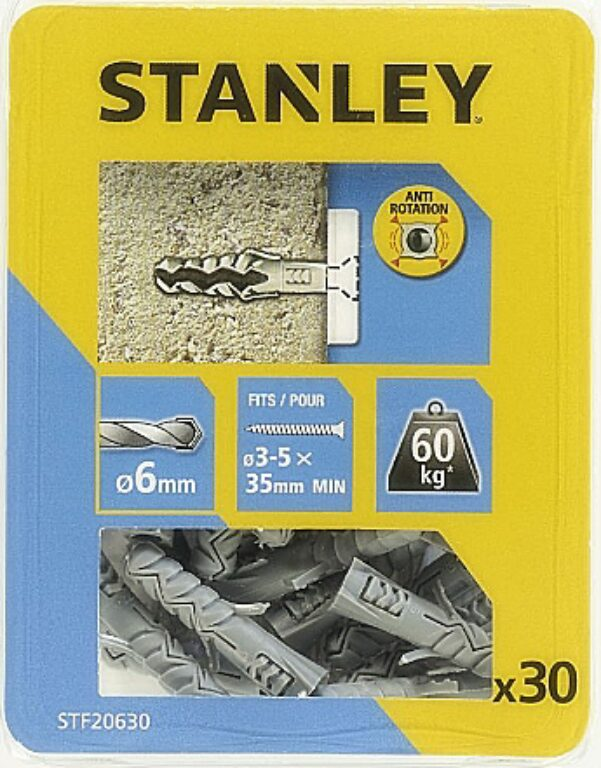 Hmoždinka do betonu nylon 6x30mm SET30 STANLEY STF20630-XJ