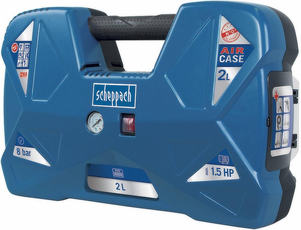 SCHEPPACH AIR CASE Kompresor bezolejový 2L 1100W 120L/min 8bar