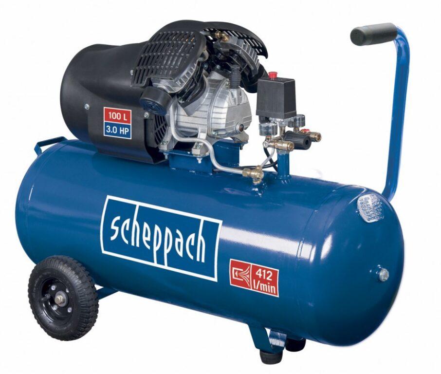 SCHEPPACH HC 100 DC Kompresor olejový 100L 1100W 1,5PS 412L/min 8b
