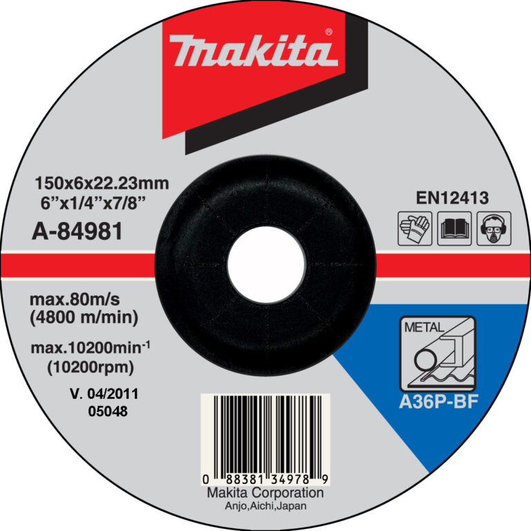 MAKITA A-84981 Kotouč brusný 150x6 na ocel