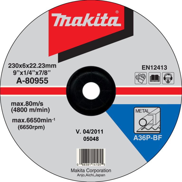 MAKITA A-80955 Kotouč brusný 230x6 na ocel