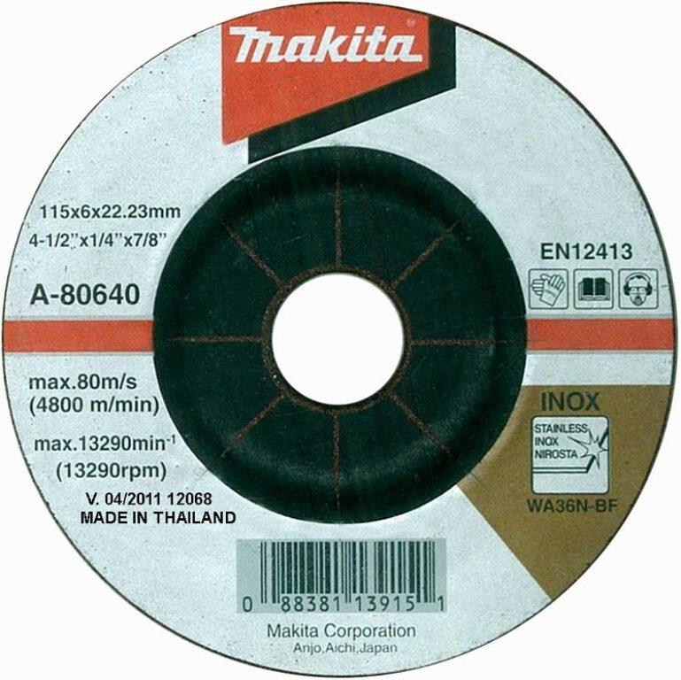 MAKITA A-80640 Kotouč brusný 115x6 na nerez