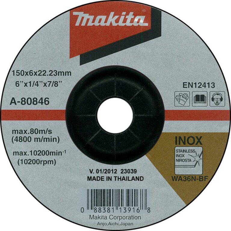 MAKITA A-80846 Kotouč brusný 150x6 na nerez