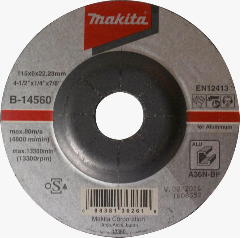 MAKITA B-14560 Kotouč brusný 115x6 na hliník