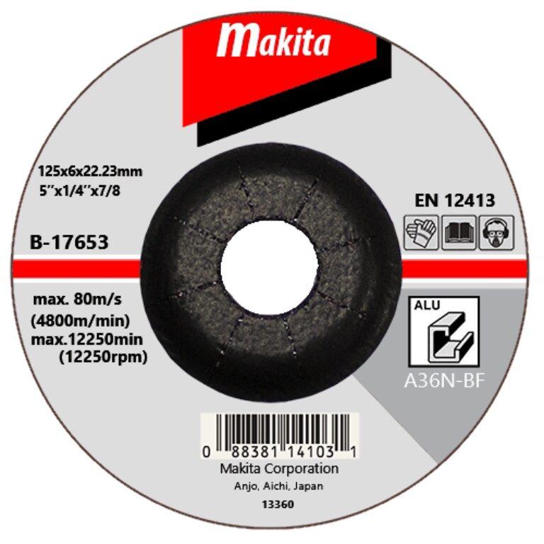 MAKITA B-17653 Kotouč brusný 125x6 na hliník