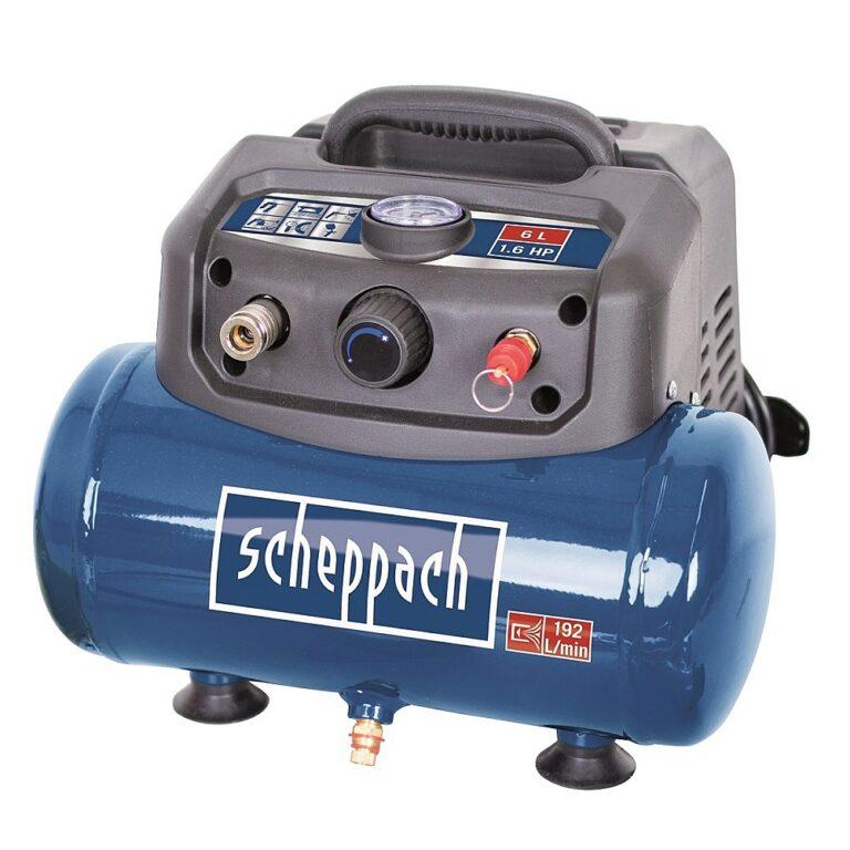 SCHEPPACH HC 06 Kompresor bezolejový 6L 1200W 192L/min 8bar