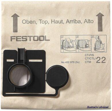 FESTOOL 452971 Filtrační sáčky FIS CT33/5(0010331)