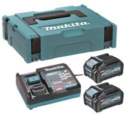 MAKITA 191J97-1 Set akumulátorů 40V 2x4,0Ah XGT BL4040 + DC40RA-Set akumulátorů 40V 2x4,0Ah s rychlonabíječkou v systaineru