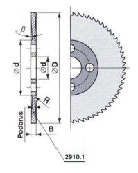 Pilový kotouč HSS 30 jemný 80X2,5X22 A ČSN222910.1-kovopila 80X2,5X22 A ČSN222910.1
