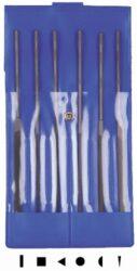 AJAX 286213931800 Sada jehlových pilníků 180/0 6dílná-Sada pilníků jehlových 180mm, 6-dílná, sek 0, ve vinylovém pouzdře
