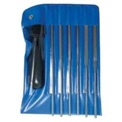 AJAX 286213932026 Sada jehlových pilníků 200/2D 6dílná-Sada pilníků jehlových 200mm, 6-dílná, sek 2, s držadlem, ve vinylovém pouzdře