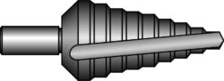 Vrták stupňovitý HSS 4-12mm 0/9 BUČOVICE 641009-Vrták stupňovitý č. 0/9 HSS 4/12-1