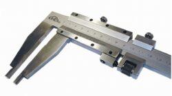 KMITEX 6016.125 Posuvné měřítko se šroubkem 600/125 0.02mm ČSN251230 DIN862-Posuvné měřítko s jemným stavěním