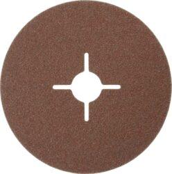 NAREX 65403806 Fíbrový brus 125mm P80 /00614391/-Fíbrový brusný kotouč 125mm na kov a dřevo, Narex