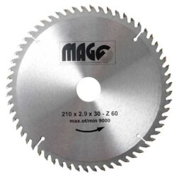 MAGG 9321060 Pilový kotouč HOBBY SK 210x2,9x30 60z-Pilový kotouč HOBBY SK 210x2,9x30 60z